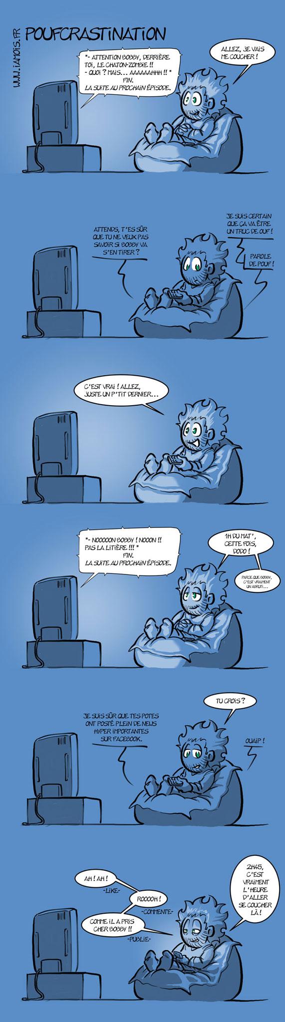 Poufcrastination - 1/2 - auteur : iamo'i's