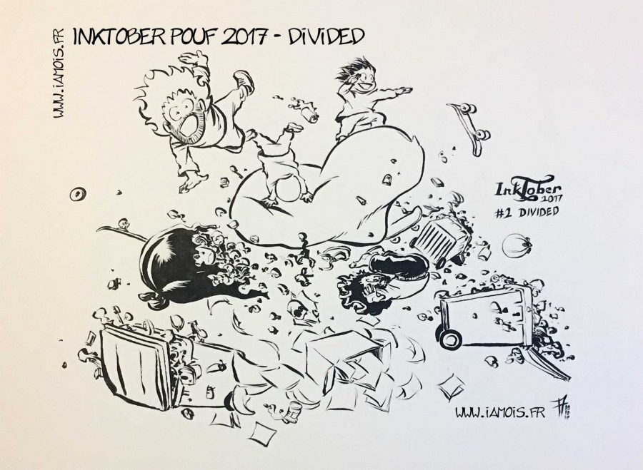 Inktober Pouf 2017 #2 Divided - auteur : iamo'i's